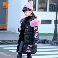 女童棉衣中长款2018新款韩版儿童加厚洋气女孩棉袄外套