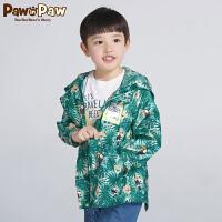 【3件4.5折 到手价:269】Pawinpaw卡通小熊童装秋男女童连帽拉链外套中大童薄外套