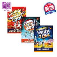 【中商原版】霍金 乔治的宇宙秘密钥匙4-6 Georges Secret Key 3册 Stephen Hawking 儿童宇宙知识科普课外读物 英文原版 12岁以上