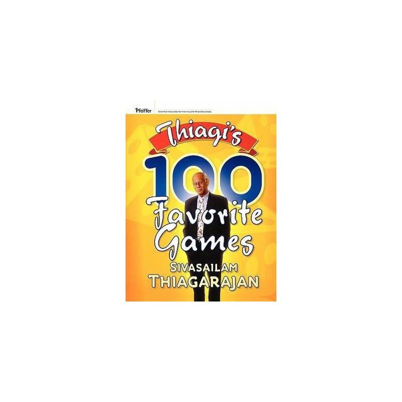 【预订】Thiagi'S 100 Favorite Games 美国库房发货,通常付款后3-5周到货!