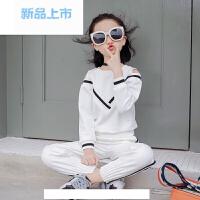 童装女童运动套装2018新款儿童大童春装长袖大童两件套