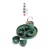 日式功夫茶具陶瓷茶具套装带茶盘简约创意礼品