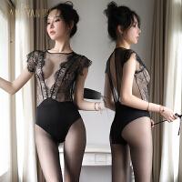 性感情趣骚内衣挑逗文胸睡衣透明开裆免脱透视装夫妻激情套装胸罩