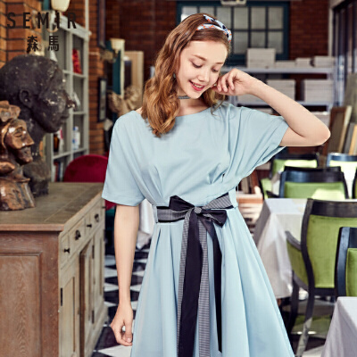 新低:森马 19038140321 雪纺度假风连衣裙 74.4元(1件3折)