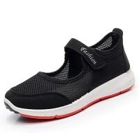 夏季老北京布鞋女网鞋中老年健步鞋女透气网面妈妈运动鞋老人鞋子