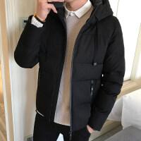 男士外套冬季2018新款韩版潮流衣服短款帅气冬装羽绒棉袄棉衣