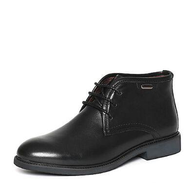 Belle/百丽冬专柜同款黑色百搭牛皮男皮靴(绒里)4NS01DD6