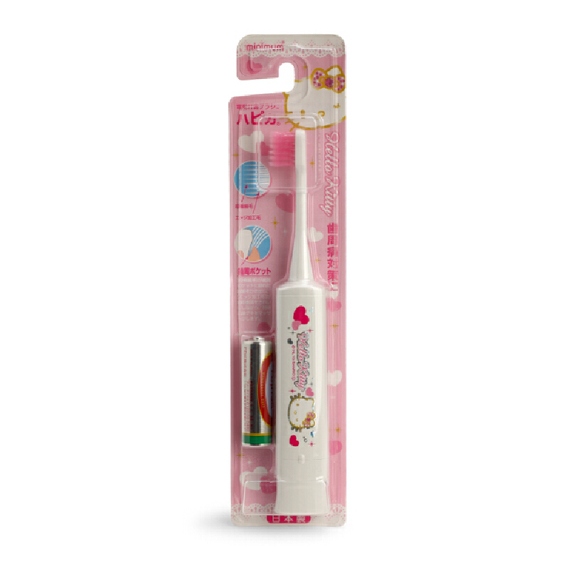 日本Hapica哈皮卡儿童电动牙刷刷头1-2-3岁以上宝宝声波震动牙刷