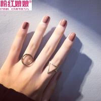 韩版饰品简约学生装饰戒指女潮时尚个性开口情侣关节指环食指首饰