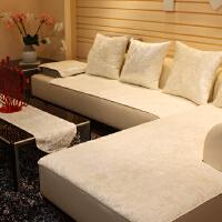 欧式皮沙发垫巾罩套防滑布艺简约现代黑色四季1 2 3套装全包通用
