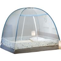 蒙古包蚊帐免安装1.5米床1.8m床儿童防摔1.2米可折叠纹账支架家用
