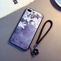 文艺范苹果X手机壳挂绳iPhone7/8plus浮雕软壳6sp防摔套女款全包