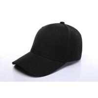 帽子印韩版棒球鸭舌帽潮男女纯色定做街舞嘻哈平沿帽