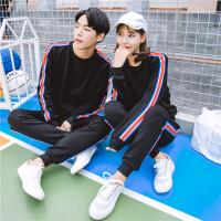 新款情侣韩版休闲时尚男装运动卫衣休闲裤两件套装S小码XS号