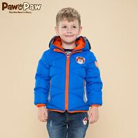 【3件2折 到手价:300】Pawinpaw宝英宝卡通小熊童装冬季款男童卡通羽绒服