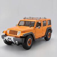 1:18吉普jeep牧马人越野概念车仿真合金警汽车模型生日*