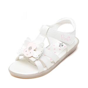 鞋柜苹绮女童夏季凉鞋 露趾舒适透气小女孩鞋子