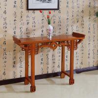 明清古典中式仿古实木家具 条案实木 榆木供台桌铜钱条案佛龛