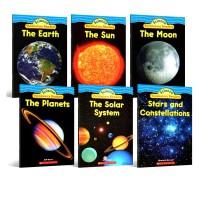 Scholastic Science Vocabulary Space Readers 星球太空科普 英文词汇读物 幼儿启蒙认知英文原版绘本科普读物 6册 绿山墙