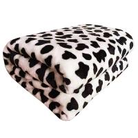 毛毯加厚冬季午睡单人绒毯学生法兰绒单人双人床单珊瑚绒毯 白色 奶牛