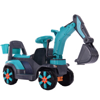 创意新款可坐人儿童电动车新款儿童电动挖掘机可坐可骑大号挖土机充电宝宝男孩工程车玩具车 官方标配
