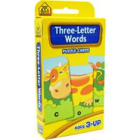【简单词汇】School Zone Flash Cards Three Letter Words 英文原版 儿童早教入