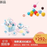 婴儿玩具高温水煮牙胶摇铃新生儿0-3-6-12个月宝宝玩具0-1岁