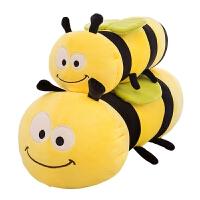 蜜蜂毛毛虫毛绒玩具公仔睡觉长抱枕软体布娃娃玩偶儿童女生日礼物 软体羽绒棉蜜蜂虫