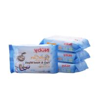 努比nuby婴儿湿巾 宝宝手口棉柔湿纸巾 新生儿 儿童湿巾纸25抽X4