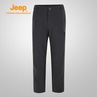 【特惠价】Jeep/吉普 男士户外舒适透气登山野营冲锋休闲徒步裤J732093803