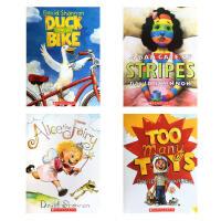 【全店300减100】鸭子骑车记 Duck on a bike, too many toys 等4本套装大卫・香农经典