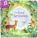 【中商原版】发声书 四季 英文原版 The Four Seasons 纸板书 儿童音乐绘本 3-6岁