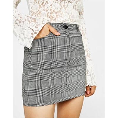 秋季新款灰色格子百搭包臀半身裙女 发货周期:一般在付款后2-90天左右发货,具体发货时间请以与客服协商的时间为准