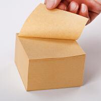 小清新可撕贴纸小本子牛皮纸便利贴创意便签便条纸本