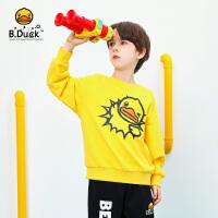 【3折价:98.7】B.duck小黄鸭童装儿童卫衣男童2020春装新款时尚女童套头衫上衣潮BF1108911