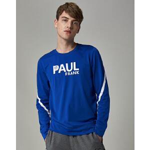 【限时秒杀到手价:152元】paul?frank/大嘴猴时尚字母印花帅气风尚上装舒适运动长袖T恤男士