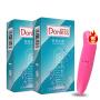 多乐士避孕套新版时尚水溶系列2盒 安全套共24只赠海豚跳蛋一枚 平滑 水润 保险套 情趣 成人用品