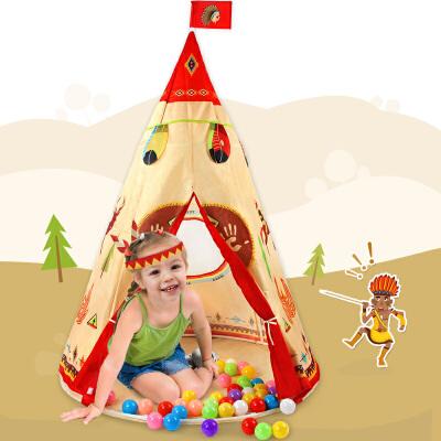 印第安儿童趣味帐篷 幼儿室内游戏屋海洋球池便携式空间 儿童玩具益智玩具限时钜惠