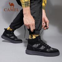 骆驼男鞋2019秋季新款工装靴男马丁靴中帮潮流百搭户外休闲板鞋男