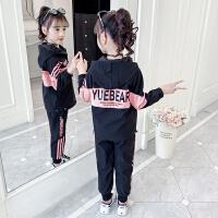 木木屋女童长袖套装2021新款春装韩版运动儿童装大童春秋洋气时髦两件套
