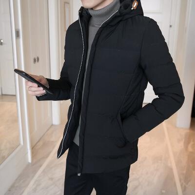 男士冬季外套面包棉袄韩版潮流修身帅气连帽加厚棉衣男装冬天 发货周期:一般在付款后2-90天左右发货,具体发货时间请以与客服协商的时间为准