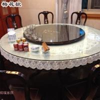 圆桌布布艺田园圆形蕾丝桌布家用欧式小转盘台布简约现代餐桌垫布