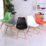 幽咸家居 简约椅子 休闲伊姆斯餐椅 现代时尚创意 电脑靠背椅 实木书桌椅子