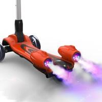 儿童滑板车3轮溜溜车3-6岁闪光带音乐喷雾可折叠男女孩大号踏板车