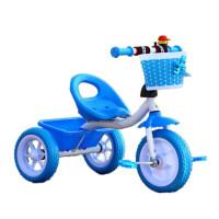 儿童三轮车脚踏车小孩单车2-3岁玩具车男女宝宝儿童自行车 蓝色 高配蓝