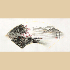 《江天晨雾图》中国画学研究会理事,中书协会员李青云【真迹R1058】