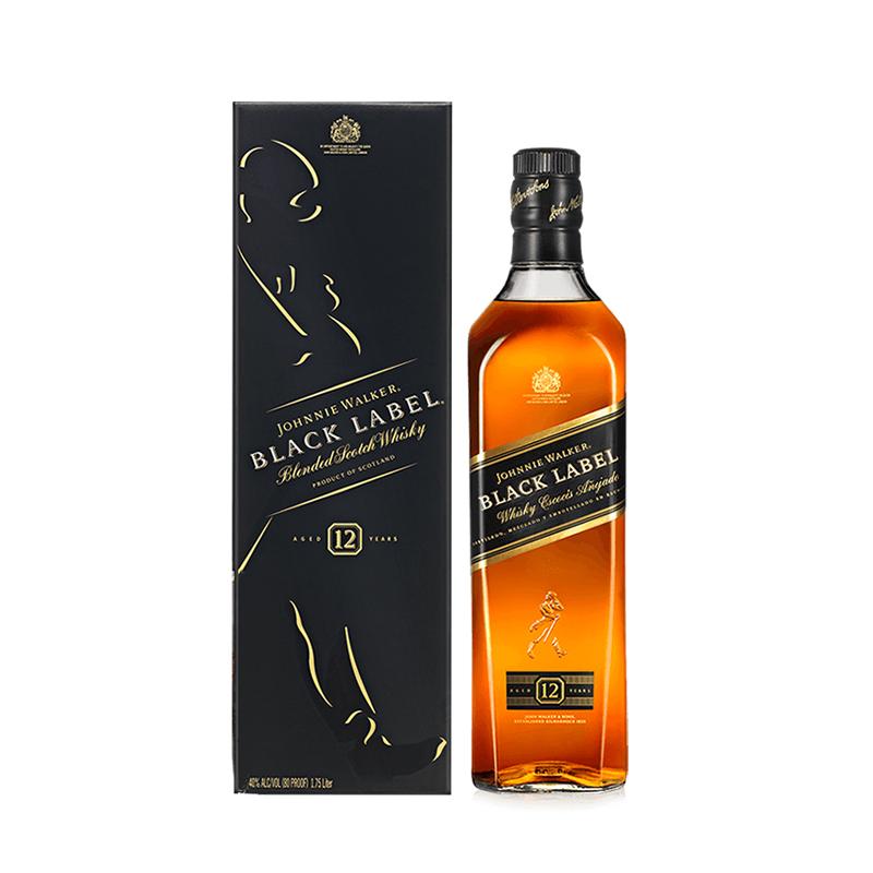 宝树行 尊尼获加黑牌12年700ml 黑方调配型苏格兰威士忌原装进口洋酒 尊尼获加黑牌12年700ml
