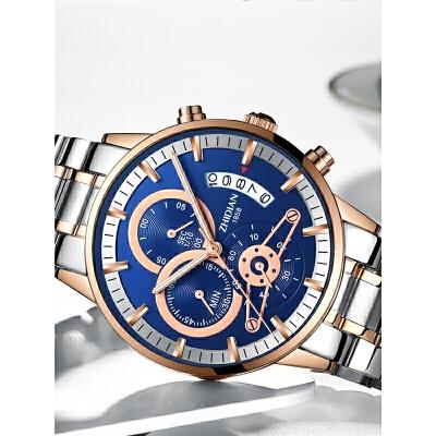 男士手表带夜光腕表大表盘石英表机械表