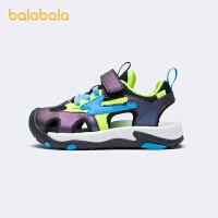 【5.8品类日 2件6折:113.9】巴拉巴拉官方童鞋男童凉鞋中大童新潮拼色运动风2021新款夏季鞋子