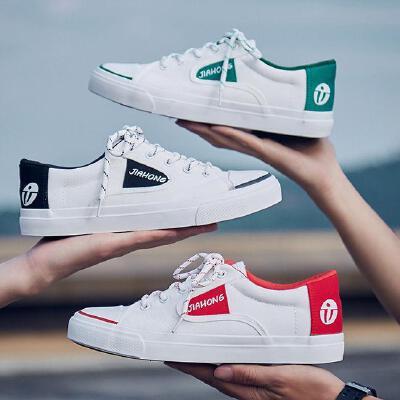 【包邮】2018夏季新款透气男士板鞋韩版休闲鞋男鞋帆布鞋子学生阿甘潮鞋子F09JQSL支持
